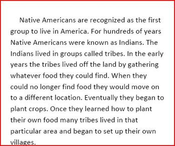 Lifestyle of Native Americans