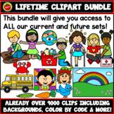 Lifetime Clip Art Growing Bundle. Images, backgrounds, frames, labels, borders!