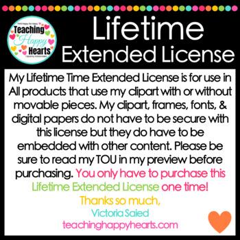 Lifetime Extended License for Clipart