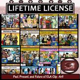 ELA and Literature Clip-Art Growing BUNDLE: Lifetime License
