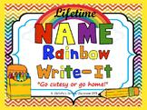Lifetime Name Rainbow Write-It