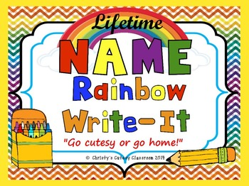 Lifetime Name Rainbow Write-It