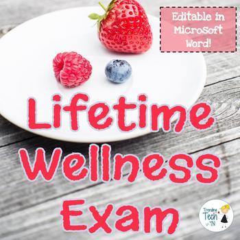 Health and Wellness Exam - Editable in Microsoft Word