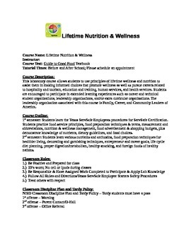 Lifetime Wellness & Nutrition Syllabi