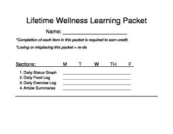 Lifetime Wellness Study Packet