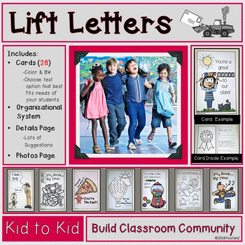 Lift Letters- Build Classroom Community with Letters for Students from Students