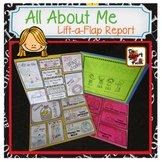All About Me Lift-a-Flap Report: First Week of School Activity