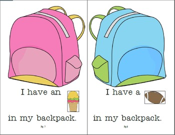Lift the Flap Adaptive BackPack Book for Preschool Language