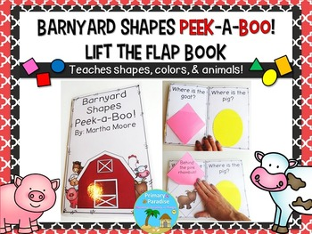 Lift the Flap Book: Shapes, Animals, Colors Farm Theme