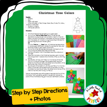 Christmas Tree Lift the Flap: Color Learning Craft Activity