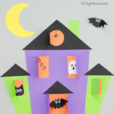 Lift-the-Flap Haunted House Template