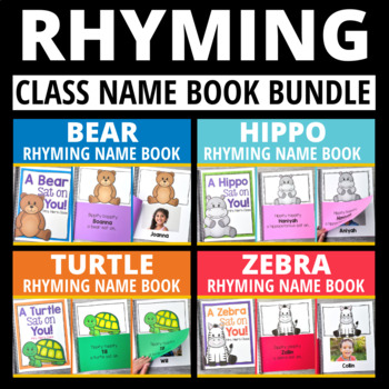 Rhyming Name Book | Editable Lift-the Flap Rhyming Books - 4 Versions Included