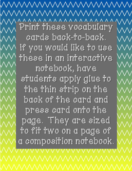 Lift-the-Flap Vocabulary Cards for Interactive Notebooks