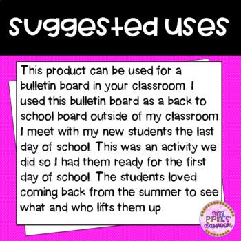 Lift you up balloon bulletin board