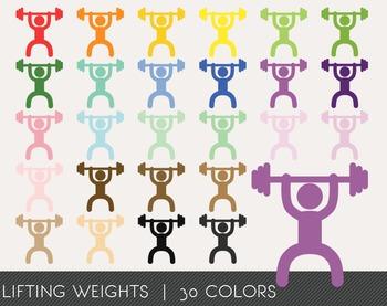 Lifting Weights Digital Clipart, Lifting Weights Graphics, Lifting Weights PNG