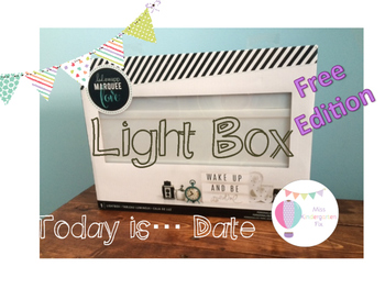 Ligh Box: Today's Date Free Edition
