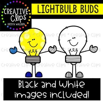 Lighbulb Buds Clipart {Creative Clips Clipart}