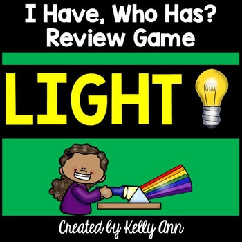 Light Energy Review Activity - I Have, Who Has Game