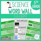 Light: 5th Grade Science Word Wall