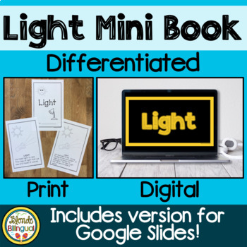 Light: A mini book about light  NGSS aligned
