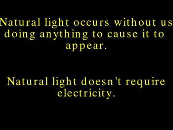 Light-Artificial and Natural- powerpoint