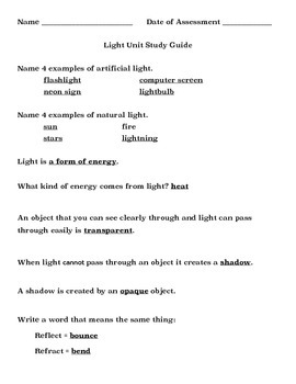 Light Assessment Bundle