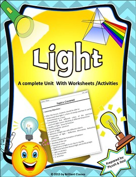Light - Complete Unit with Worksheets/Activities
