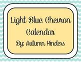Light Blue Chevron Calendar