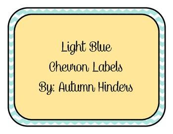 Light Blue Chevron Labels