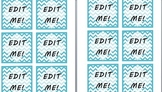 Light Blue Chevron Pattern Labels [EDITABLE TEXT]
