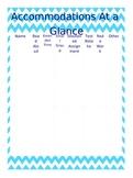Light Blue Chevron Teacher Notebook / Binder