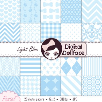 Digital Paper - Light Blue