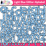 Light Blue Glitter Alphabet Clip Art {Glitter Meets Glue}