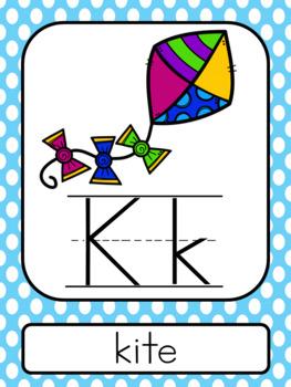 Light Blue Polka Dot ABC Posters
