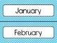 Light Blue Polka Dot Calendar Pieces