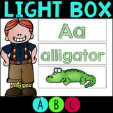 Light Box Display Alphabet Letters and Sounds