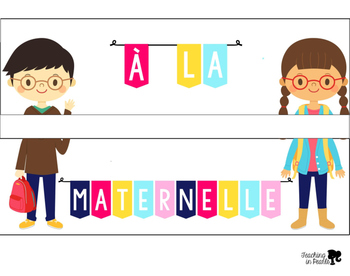 Light Box Back To School French Signs
