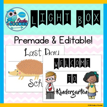Light Box Editable Designs