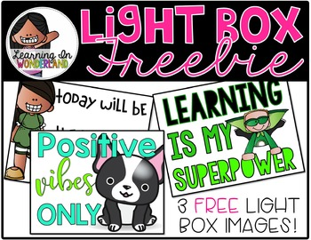 Light Box Designs {FREEBIE}