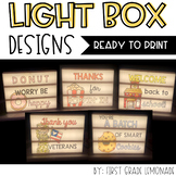 Light Box Designs {Growing Bundle}