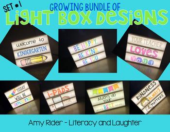 Light Box Designs - Growing Bundle of Fun Lightbox Slides