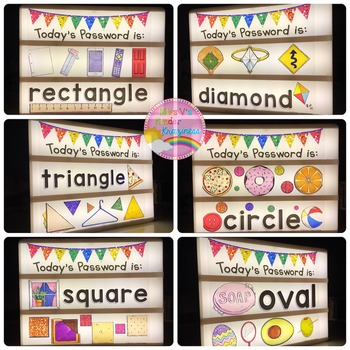 Light Box Designs:Daily Passwords-Back To School Bundle