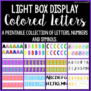 Lightbox Letters- Colored Letters, Numbers, & Symbols