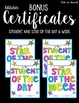 "Lightbox Display- ""Student Celebrations"" Editable"