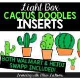 Light Box Doodle Cactus Clip Art Inserts - Walmart & Heidi Swapp