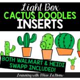 Light Box Doodle Cactus Clip Art Inserts - Walmart & Heidi Swapp & Others