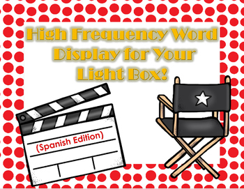 Light Box High frequency words in Spanish