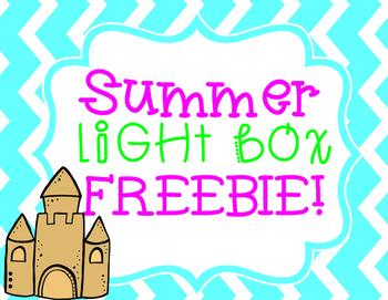 Light Box Insert Summer FREEBIE