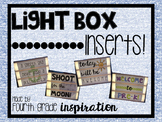 Light Box Inserts