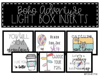 Light Box Inserts - {BOHO Adventure}